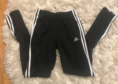 Girls black Adidas pants