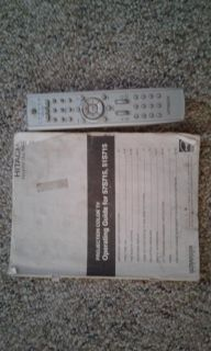 """Hitachi 51s715 51"""" projection television with remote & manual"""