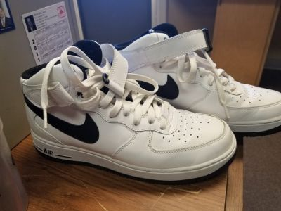 White and Black Air Force 1s