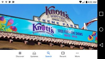 1 ticket to knotts