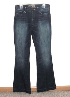 Womens 4 Long Express Eva Fit Flare Denim Jeans Womens 4L 4 x 34 Long Tall Dark Wash Stretch