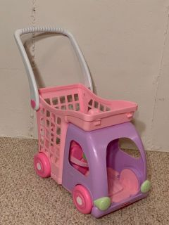 Toy Shopping Cart with Doll Seat