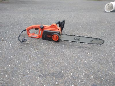 Black and decker electric corded chainsaw
