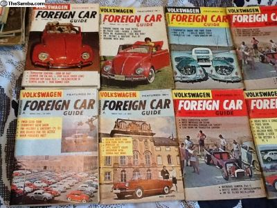 1964 Foreign car guide magazines