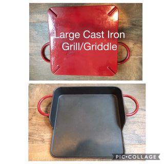 12x12 enameled cast iron griddle