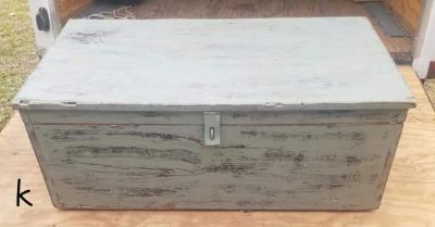 Antique Chest Trunk Coffee Table Toy Box
