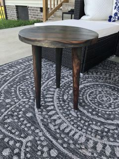 Small wooden side table