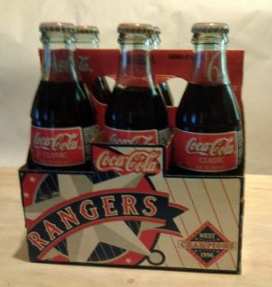 """1996 RANGERS WEST DIVISION CHAMPIONS, """"COCA COLA CLASSIC"""", NEVER OPENED 6 PK."""