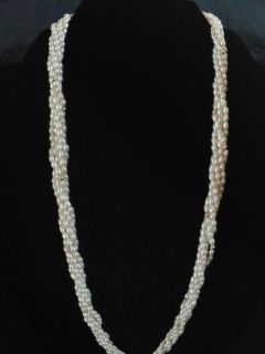 14K Gold 5 Strand Pearl Necklace