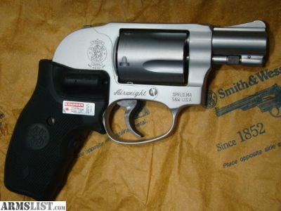 For Sale: S&W 638 Airweight .38 SPL +P SS CT Laser Grip