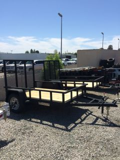 2018 Charmac Trailers 8' X 5' RUGGED STEEL UTILITY TRAILER Equipment Trailer Trailers Paso Robles, CA