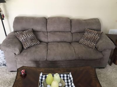 Couch microfiber suede brand new