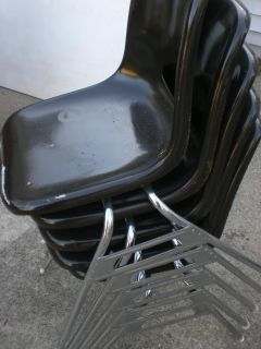 Set of stacking chairs