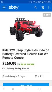 Brand new 12v remote control ride on toy