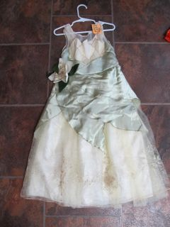 Disney Tiana Gown Halloween Costume Dress UP $5 Size 5-6