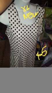 New xl polka dot shirt