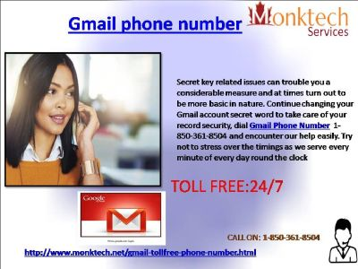 Try not to Fear! Gmail Phone Number is Here 1-850-361-8504