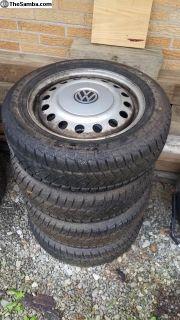 "Eurovan 16"" German wheels with w tires"