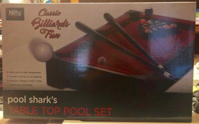 Table Top Pool Set