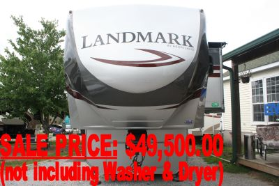 2015 Heartland Landmark<br>Key Largo Fifth Wheel RV (Consignment Unit)<br><br>If you would also like to<br>buy the Washer & Dryer,<br>or for questions or info,<br>email Nathan Mathis or<br>Byrd Mathis at<br>NatByrd@hotmail.com<br>or call Nathan at<br>865-776-0891