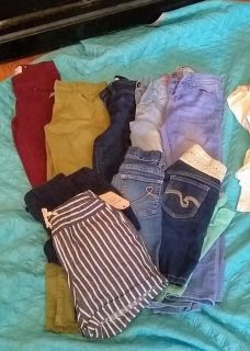 S7-8 girls jeans and shorts