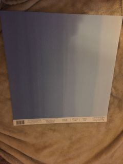 NEW Recollections 12 x12 Blue Ombr Scrapbook Paper (2 available)