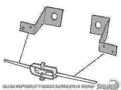 Purchase 1965 Ford Mustang Grill Bar Mounting Bracket motorcycle in Vista, California, United States, for US $5.95
