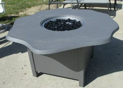 Scalloped Aluminum Outdoor Propane Fire Pit