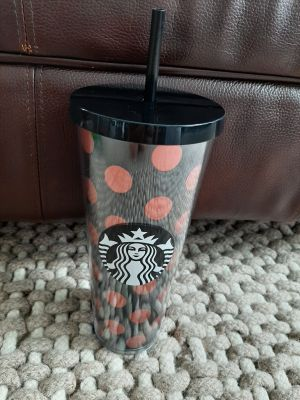 Venti Sized Starbucks Cup with Lid & Straw