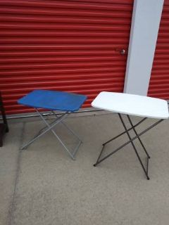 2 folding camping task tables