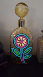 Hand painted decanter