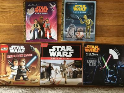 5 Star Wars books, no cd included, guc, $2 for all!