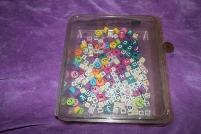 Alphabet Letter Craft Bead Assortment for Jewelry Making