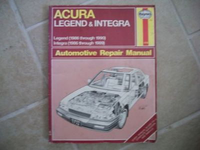 Buy Haynes Acura Legend 1986-90 Integra 1986-89 Repair Manual 1776 motorcycle in Golden Valley, Arizona, United States, for US $7.55