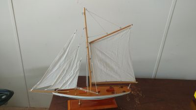 Ship on a stand