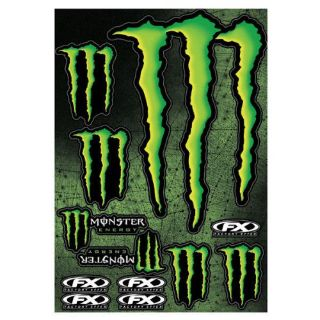 Find Factory Effex FX Monster Energy Drink XL Sticker Decal Sheet Black Green NEW motorcycle in Signal Hill, California, United States, for US $18.95