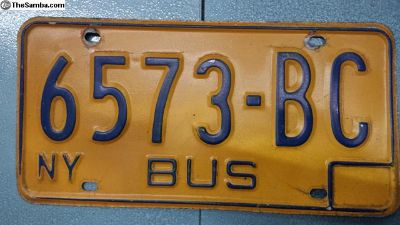 1973 74 75 76 77 78 79 New York Bus License Plate