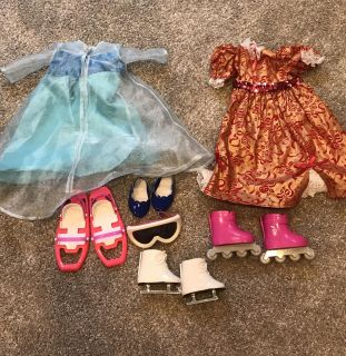 Doll clothes and accessories.
