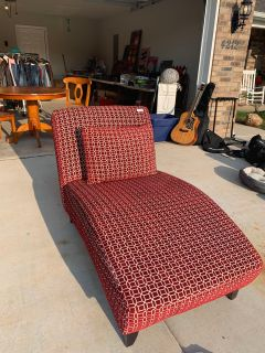 Red Pattern Lounge Accent Chair