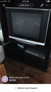 TV stand and Samsung TV