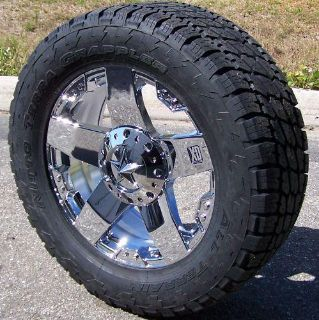 "Sell 22"" CHROME XD WHEELS NITTO TERRA GRAPPLER TIRES 8 LUG CHEVY FORD DODGE GMC 2500 motorcycle in Sarasota, Florida, US, for US $3,075.00"
