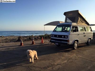 1986 White Full Camper VW Westfalia