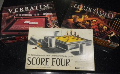 2 Vintage Lakeside Board Games Game Lot Score Four & Foursight