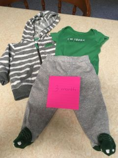 Three months dinosaur outfit