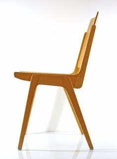 Franz Schuster plywood chair by Wiesner-Hager 1959