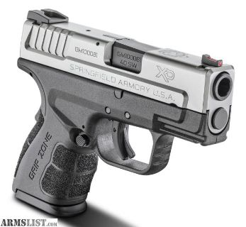 For Sale: SPRINGFIELD XD MOD.2 Sub Compact Bi Tone 40 S&W 1-9RND/1-12RD Mag, Fiber Optic FDE Color Available