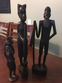 Hand carved figurines