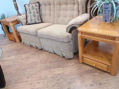 2 END TABLES Wood w/Drawers