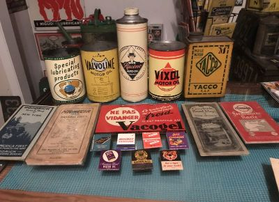 Cans, Maps, Full Matchbooks and a Sign