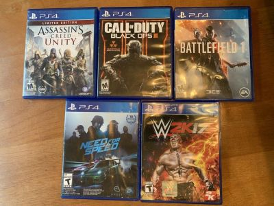 Lot of 5 PS4 Games